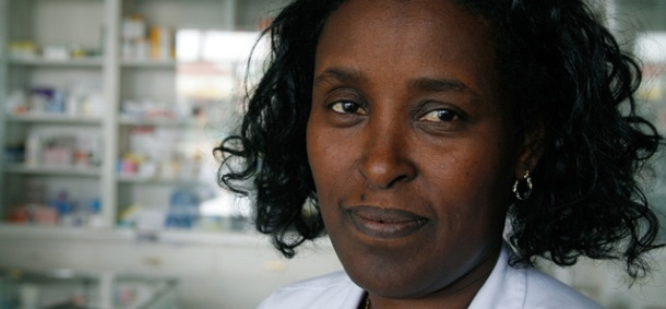 Addis Ababa, Ethiopia, female pharmacist